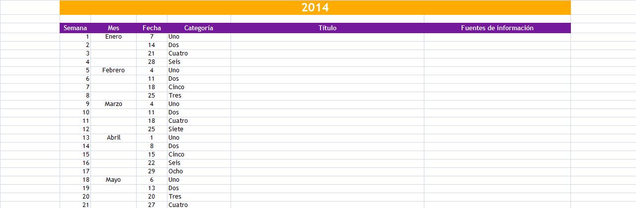 ¿Cómo organizar tu propio calendario editorial?