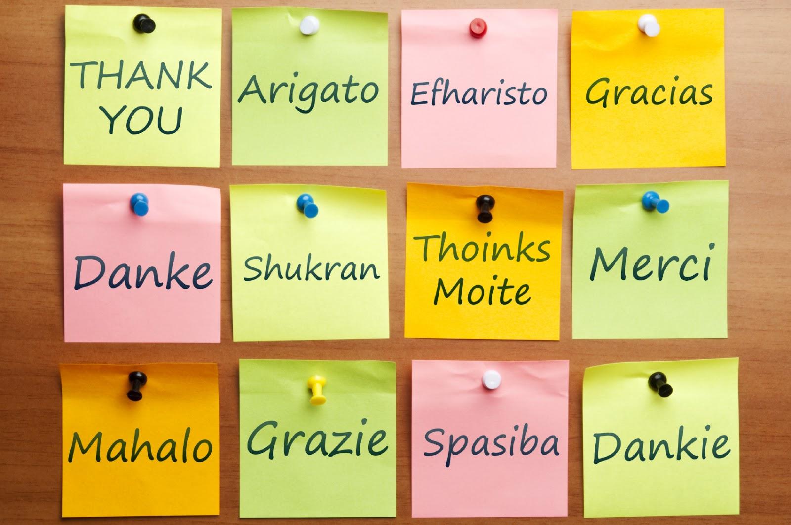 Lista de agradecimiento