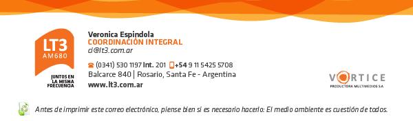 Veronica Espindola | Coordinación integral - LT3 | AM 680
